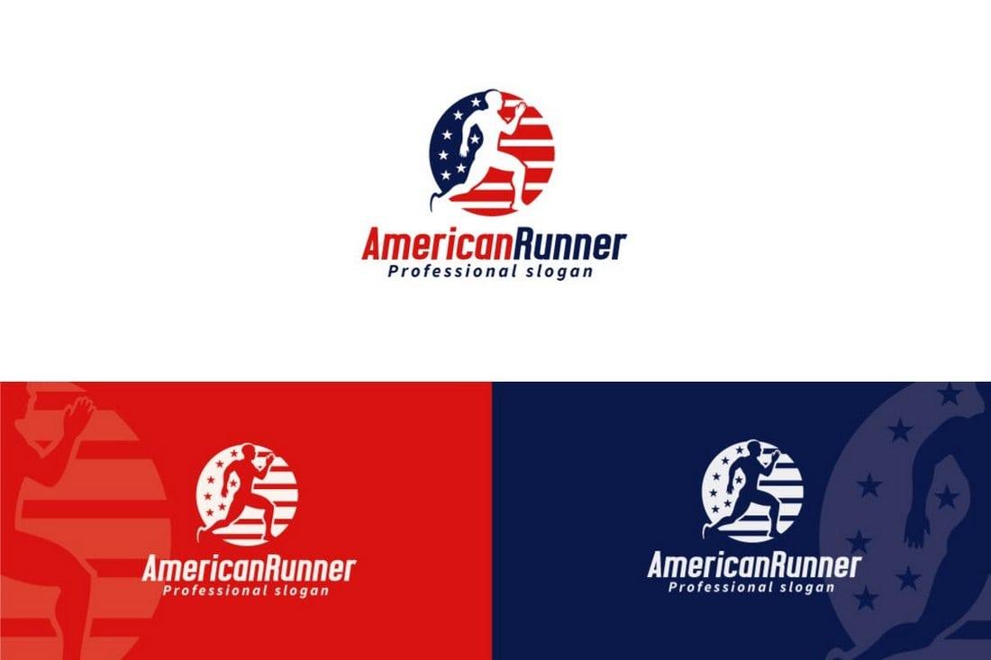 American Runner Logo Template
