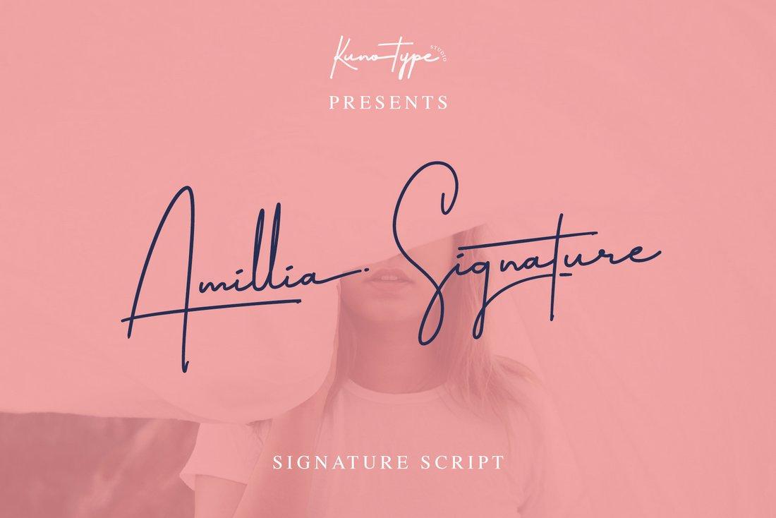Amillia Signature - Free Script Font