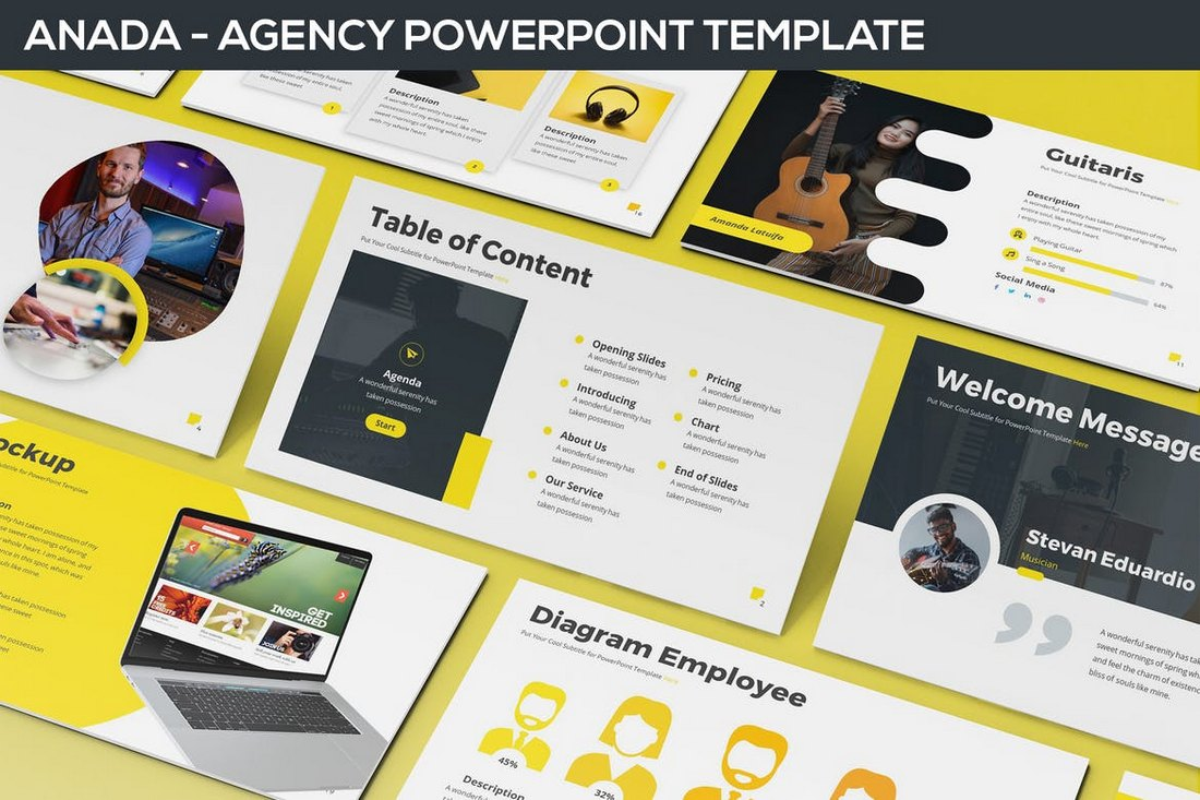Anada-Agency-Powerpoint-Template 20+ Modern Professional PowerPoint Templates design tips