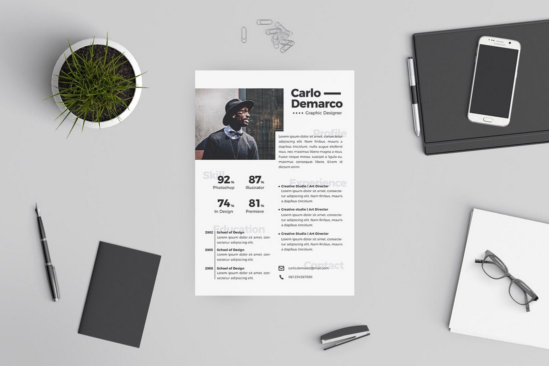 Anam-Free-Resume-Template 50+ Best CV & Resume Templates 2020 design tips