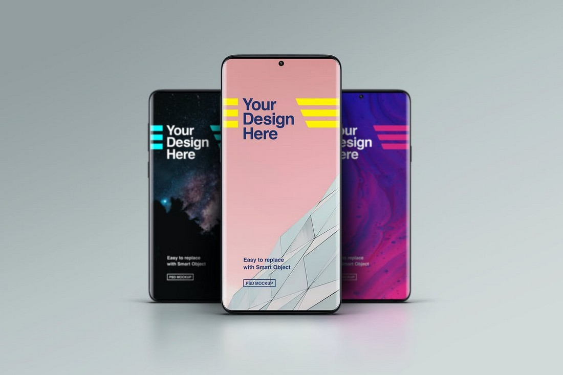 Android Smartphone Mockups - Front View