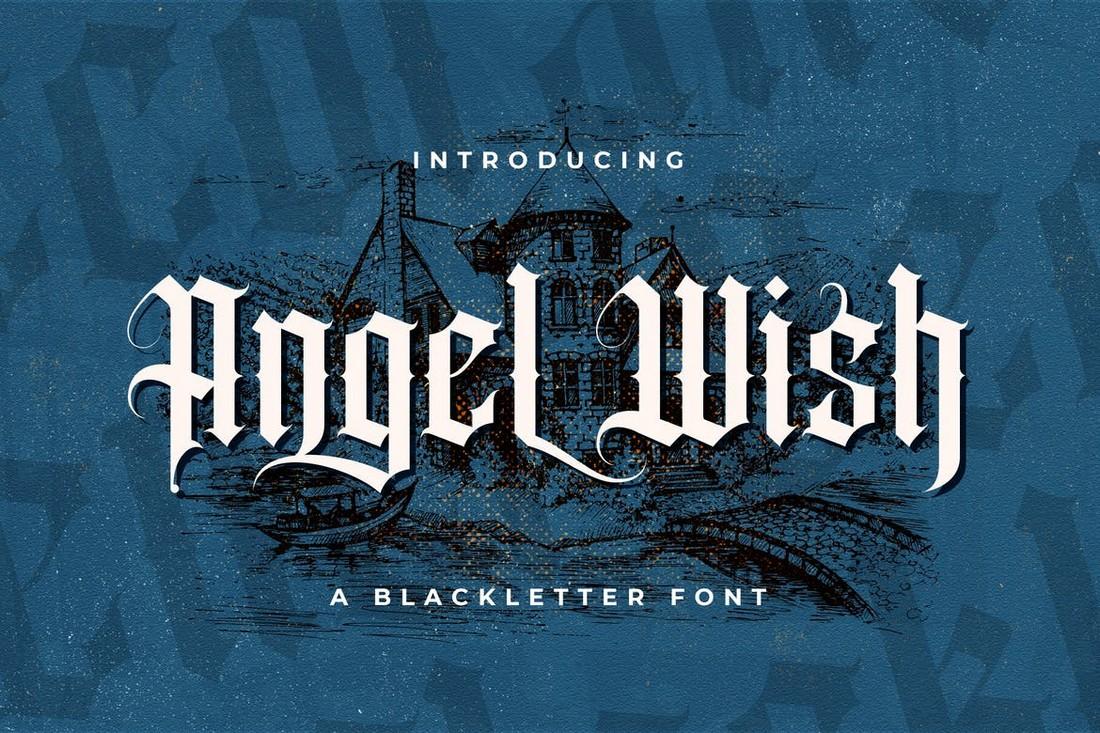 Angel-Wish-Blackletter-Font 40+ Best Gothic Fonts design tips
