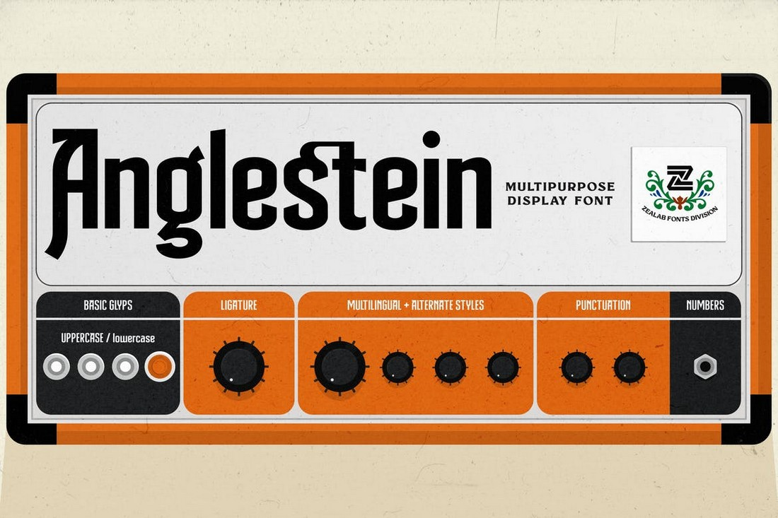 Anglestein - Multipurpose Retro Font