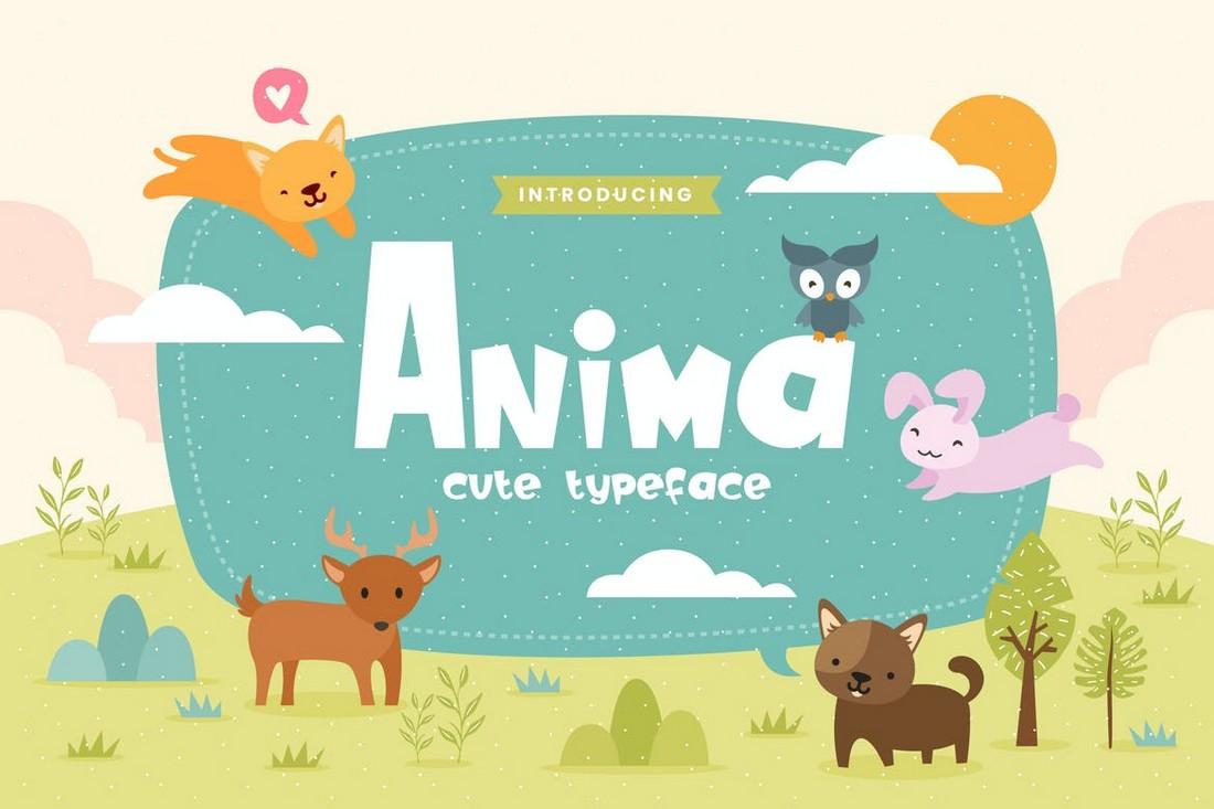 Anima - Fun Children Cartoon Font
