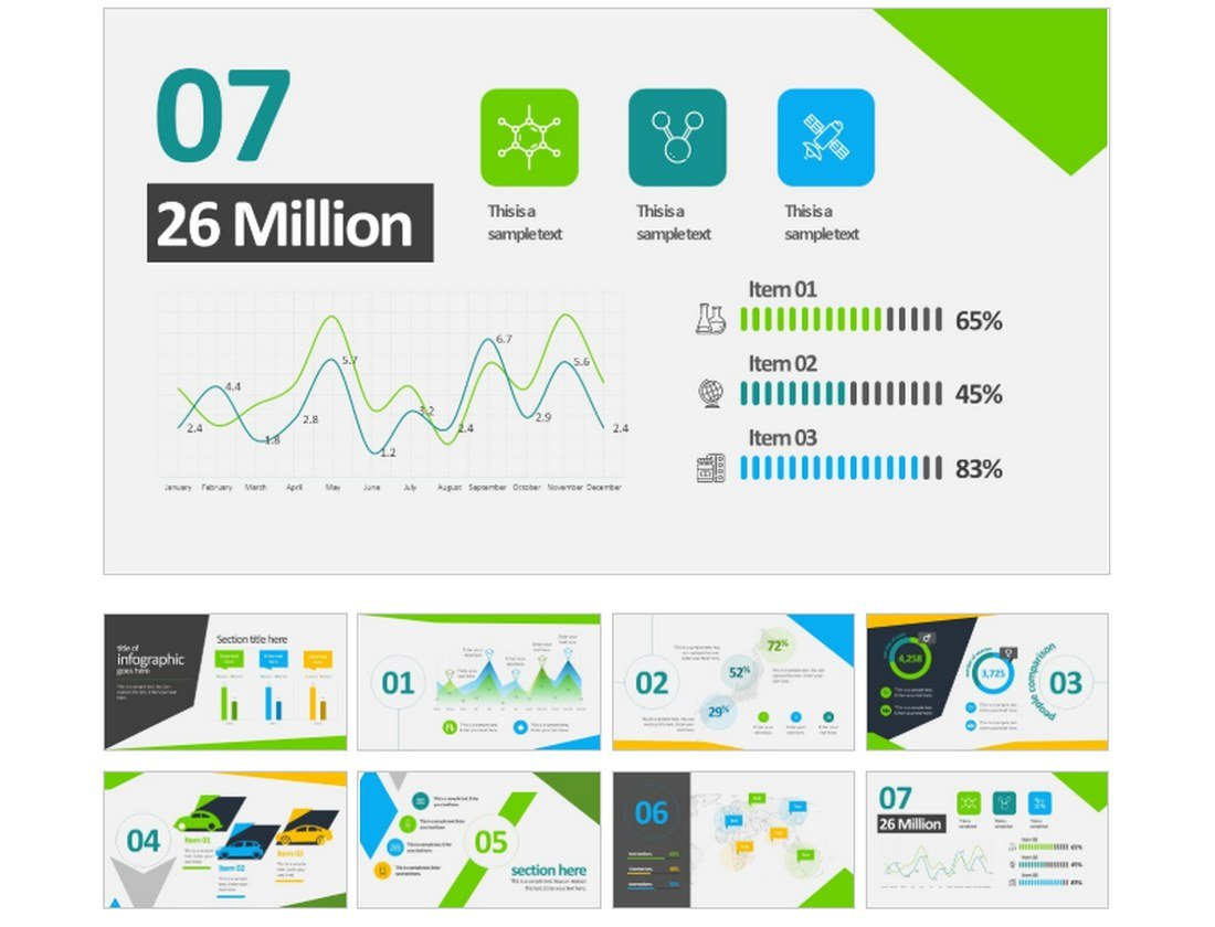Animated-Business-Infographics-PowerPoint-Template 30+ Animated PowerPoint Templates (Free + Premium) design tips