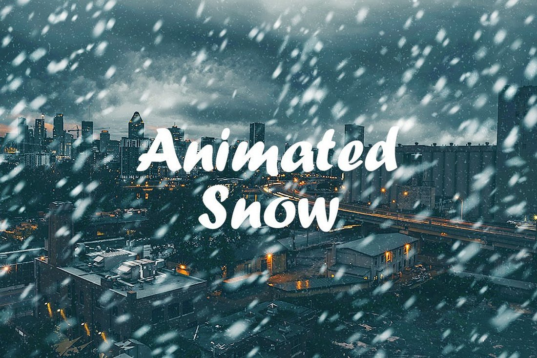 Animated-Snow-Christmas-Photoshop-Action 15+ Christmas Photoshop Brushes, Actions & Text Effects design tips