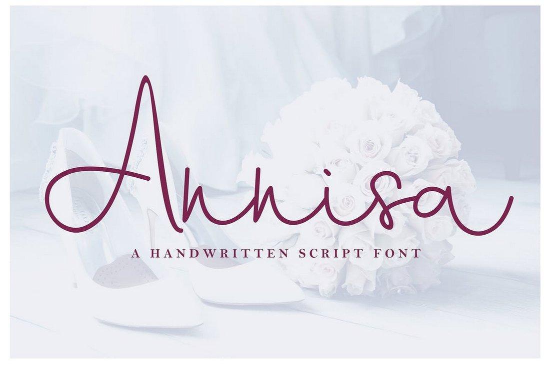 Annisa - handwritten script font