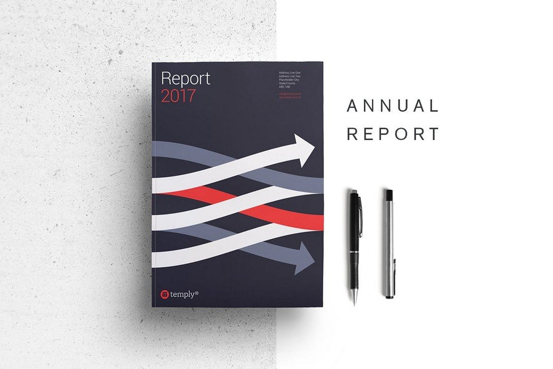 Annual Report 28-Page InDesign Template
