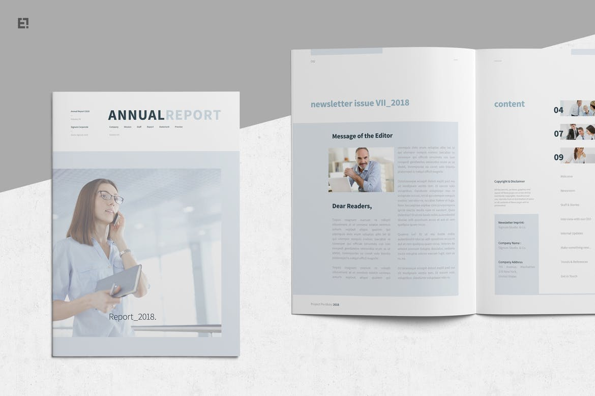Annual-Report-4 30+ Annual Report Templates (Word & InDesign) 2020 design tips  Inspiration|annual|report|template