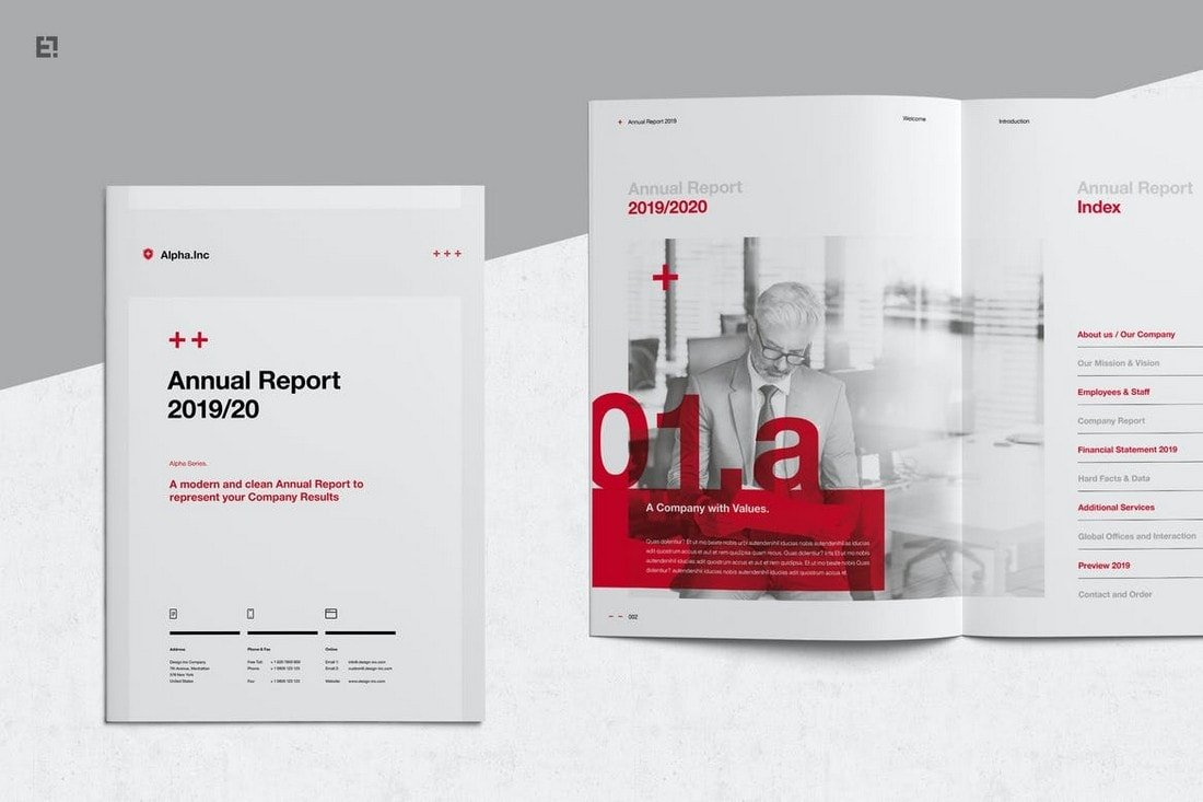 Annual Report Affinity Publisher Template