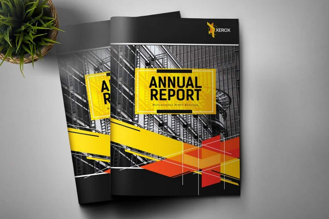 Annual Report Corporate Brochure Template