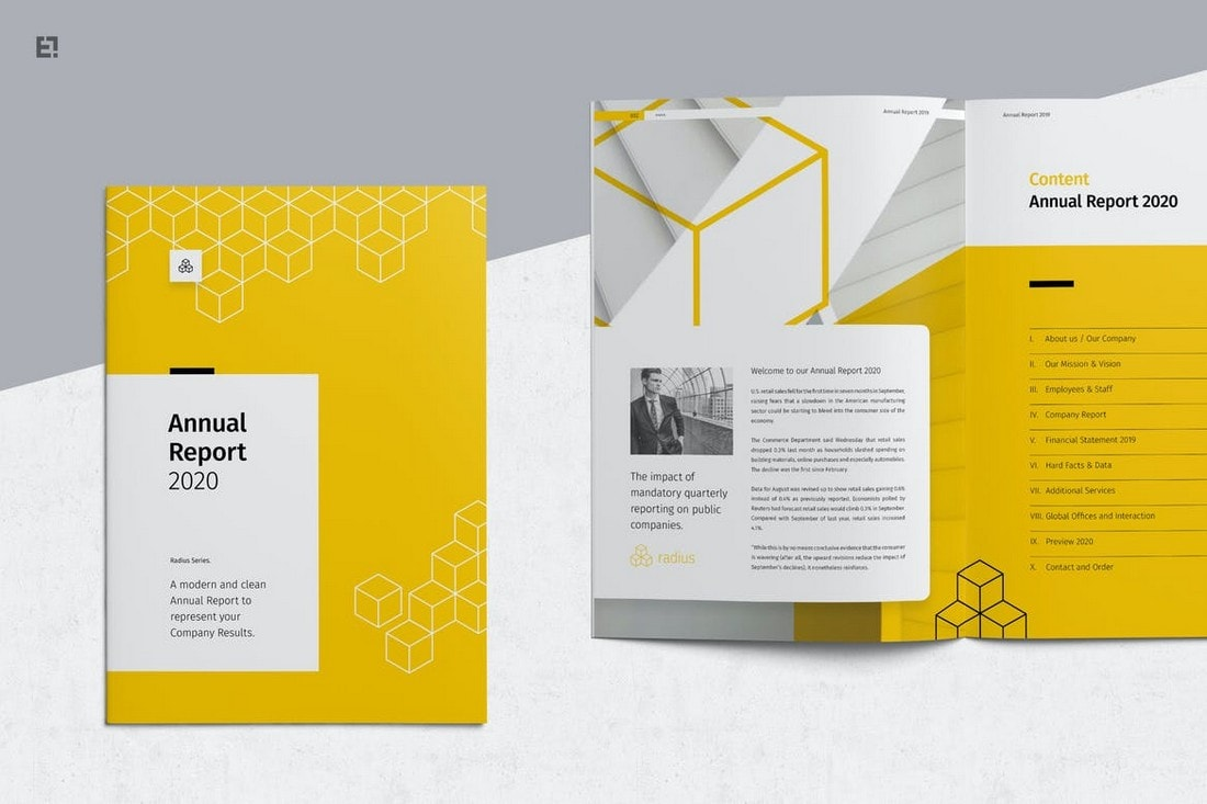 Annual-Report-Creative-InDesign-Template 30+ Annual Report Templates (Word & InDesign) 2020 design tips  Inspiration|annual|report|template