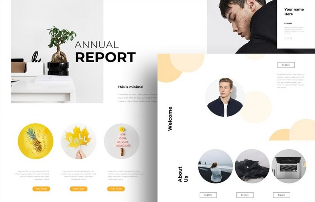 Annual Report - Free Google Slide Template