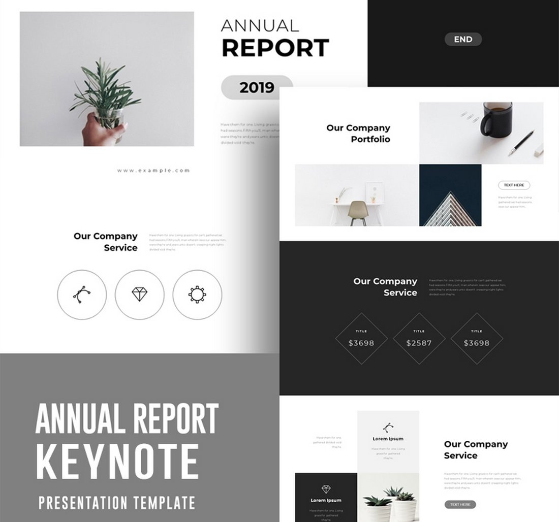 Annual-Report-Free-Keynote-Template 50+ Best Free Keynote Templates 2020 design tips