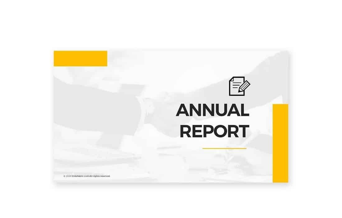 Annual Report - Free PowerPoint Template