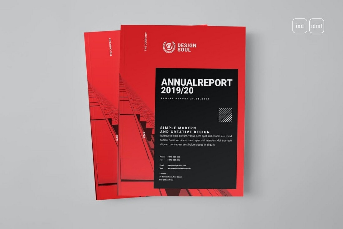Annual-Report-Modern-InDesign-Template 50+ Annual Report Templates (Word & InDesign) 2021 design tips