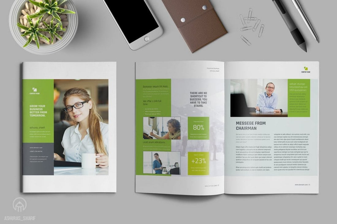 Annual-Report-Template-InDesign 20+ Annual Report Templates (Word & InDesign) 2018 design tips