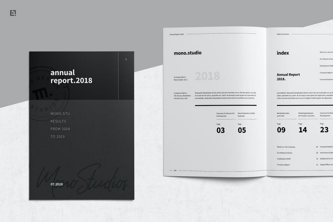 Annual Report Template for Affinity Publisher