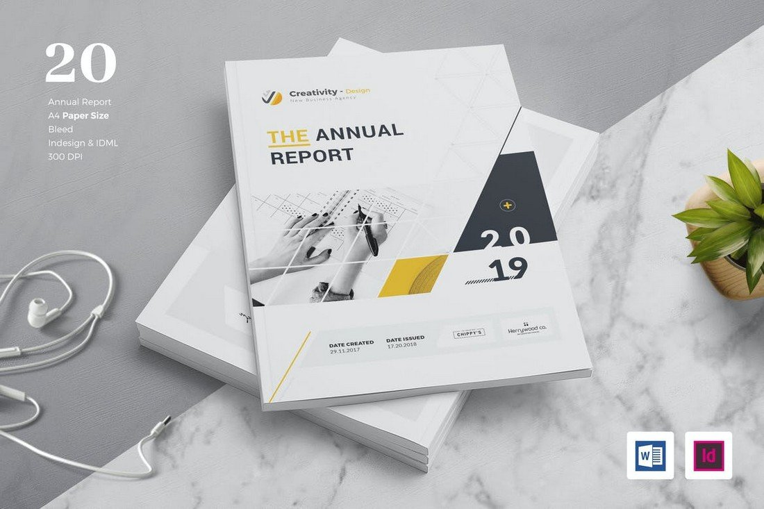 Annual Report Template for Word & INDD