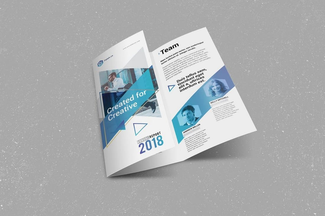Annual Report Trifold InDesign Template