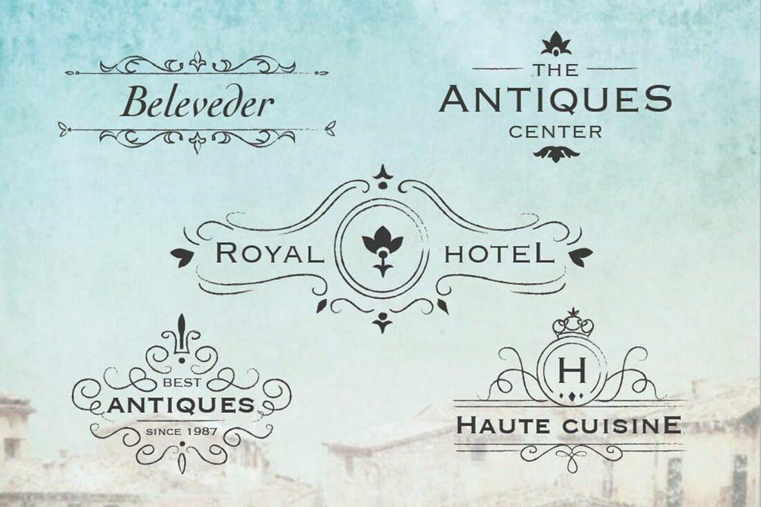Antique-Logos 50+ Best Minimal Logo Design Templates design tips