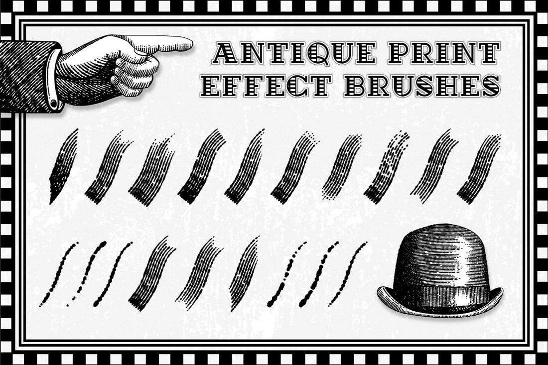 Antique-Print-Effect-Brushes 30+ Best High-Quality Photoshop & Illustrator Brushes design tips