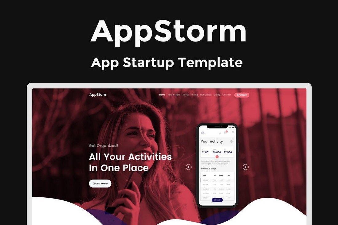 AppStorm-App-Startup-Template 50+ Best App Landing Page Templates 2021 design tips
