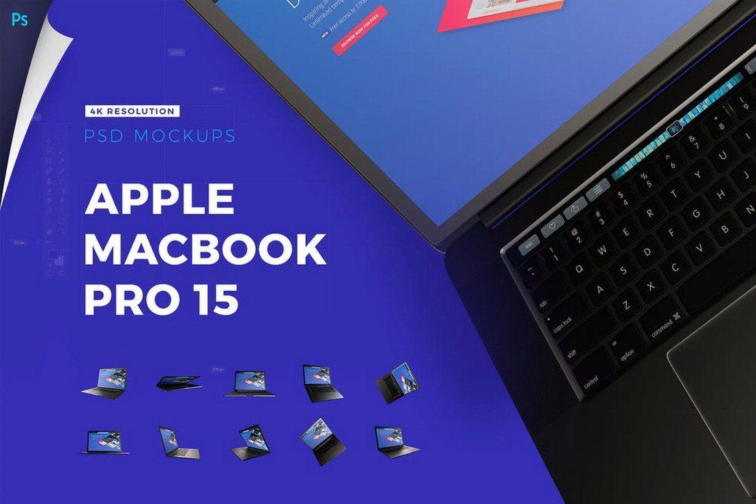 Apple-Macbook-Pro-4K-Mockup-Pack 100+ MacBook Mockup Templates (PSD & Vector) design tips