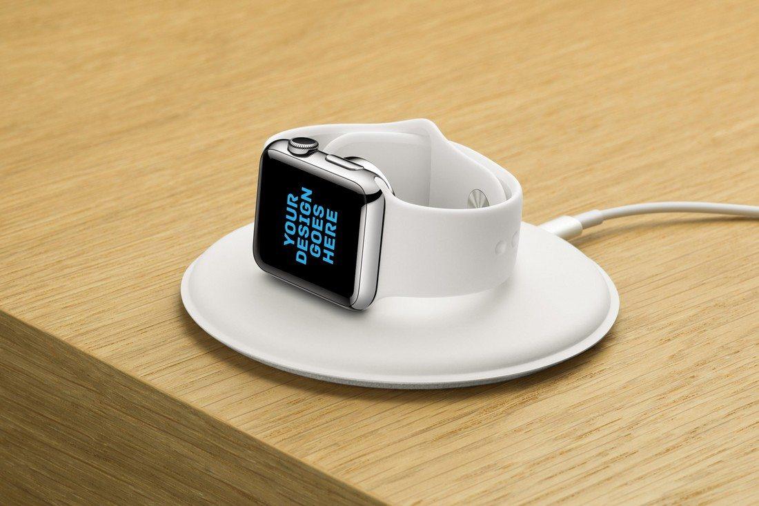 Apple-Watch-Charging-Mockup 50+ Apple Watch Mockups & Graphics design tips