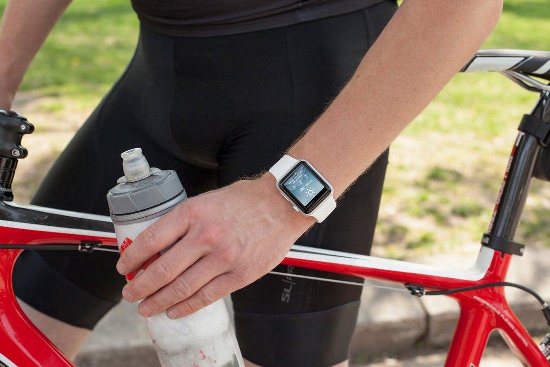 Apple Watch Cycling Mockup