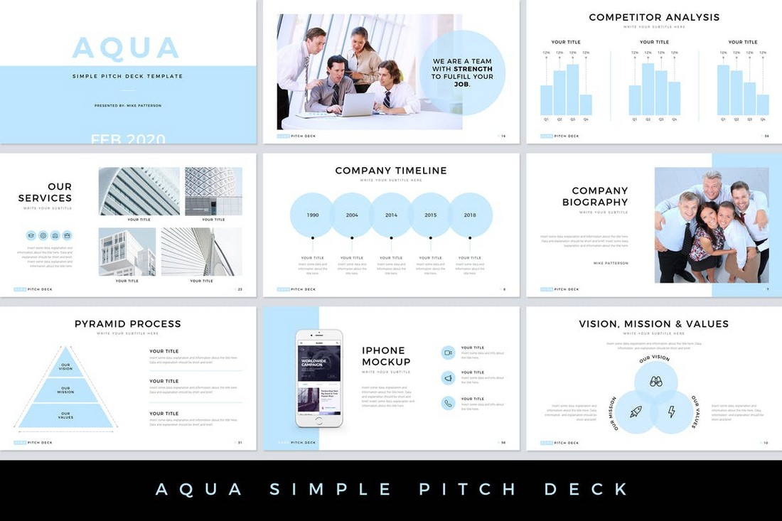 Pitch Deck Powerpoint Template from designshack.net