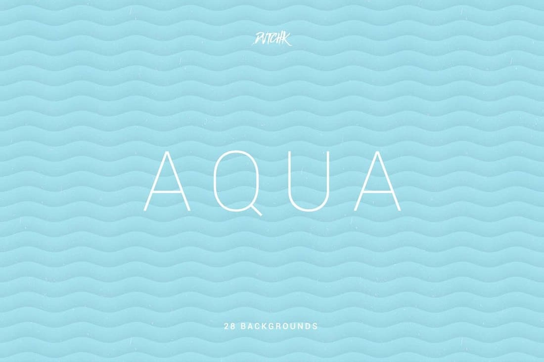Aqua Soft Abstract Wavy Backgrounds