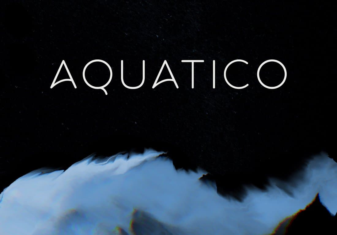 Aquatico - Free Stylish Typeface