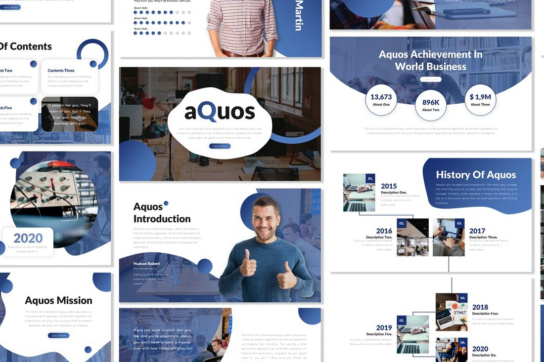Aquos - Minimal Professional PowerPoint Template