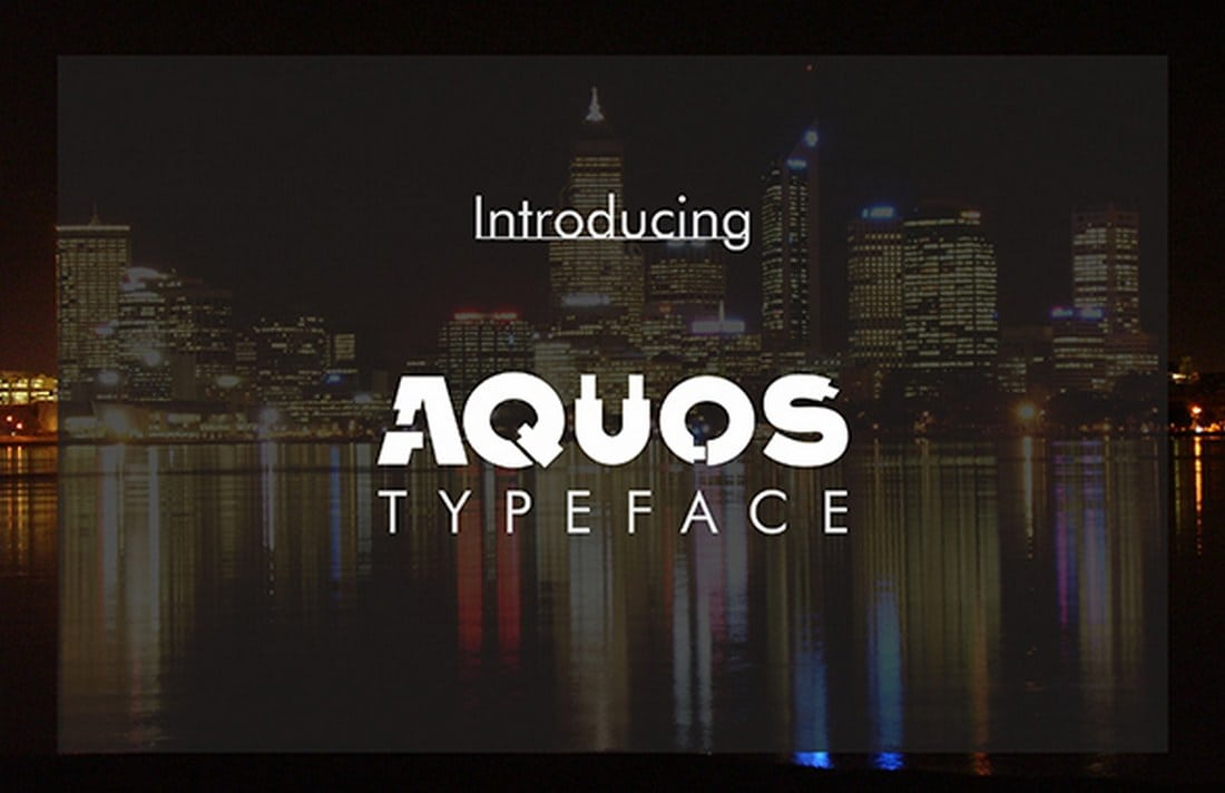 Aquos-Typeface 30+ Best Stencil Fonts design tips
