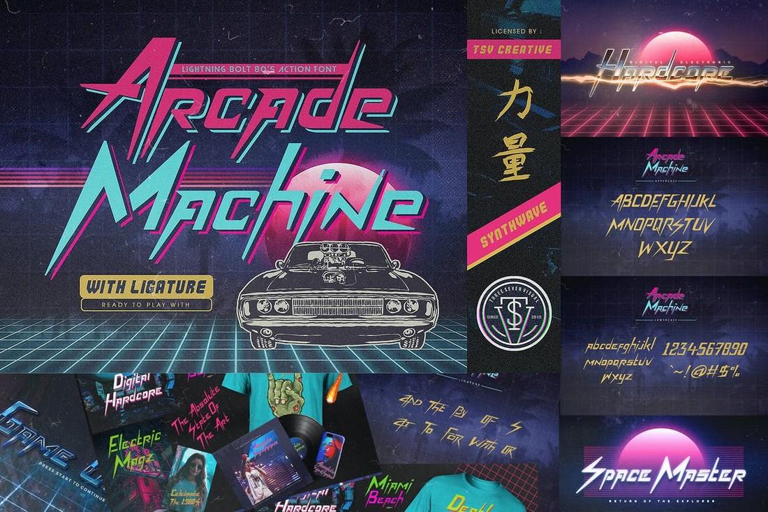 Arcade Machine - 80's Retro Font