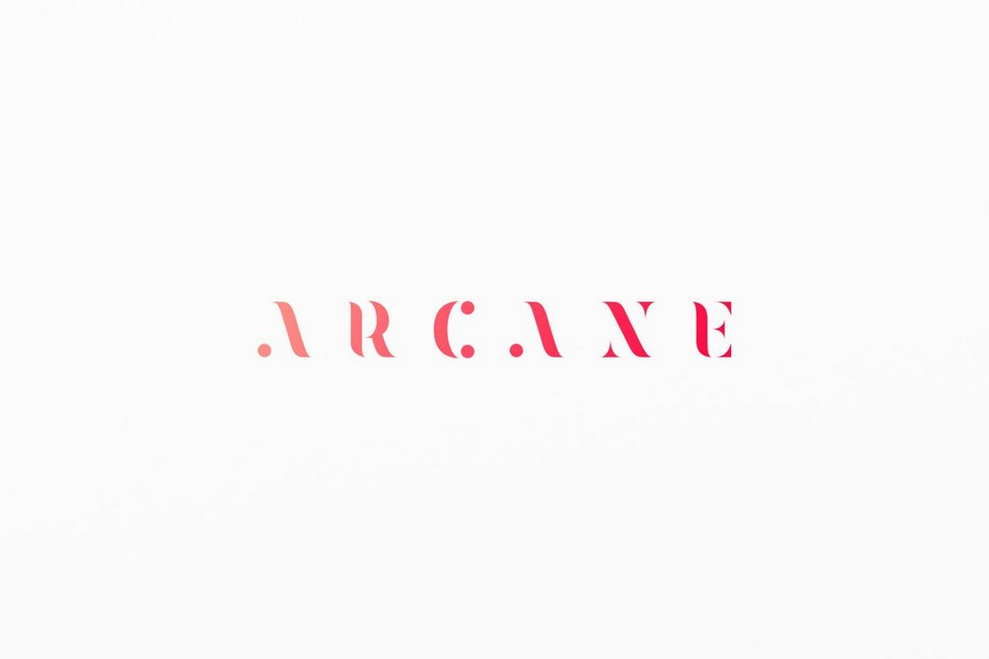 Arcane-Logotype-Stencil-Font 30+ Best Stencil Fonts design tips