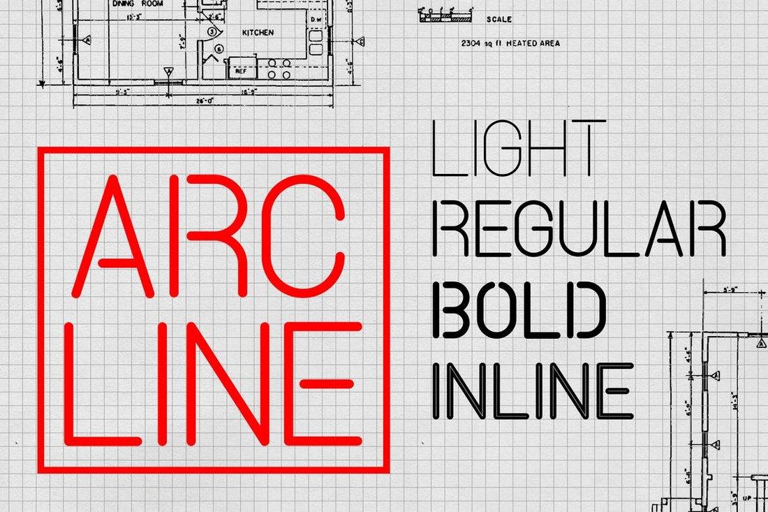 Arcline-Modern-Stencil-Font 35+ Best Stencil Fonts design tips
