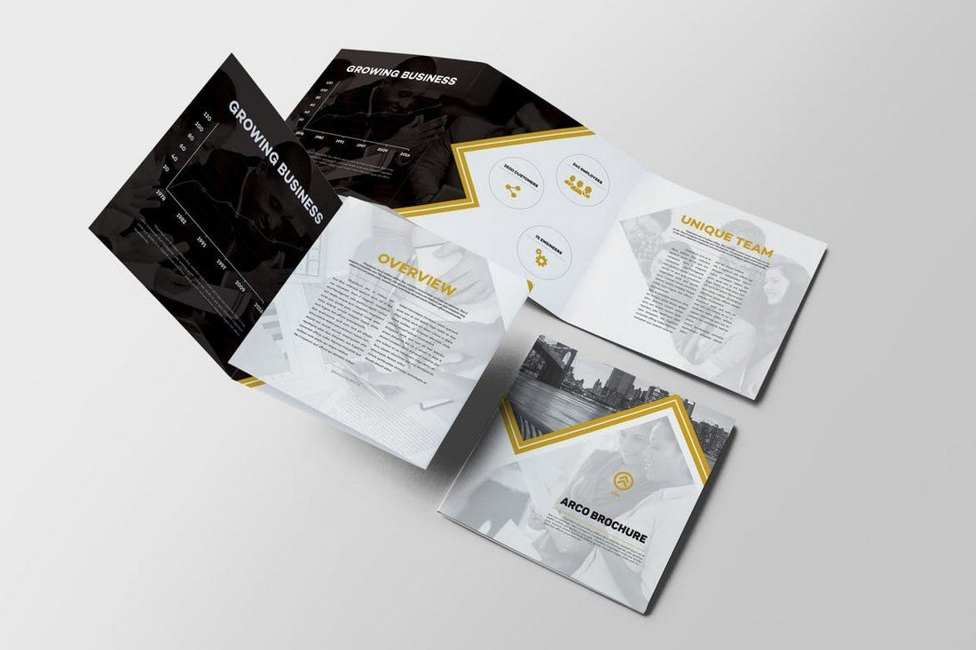 Arco-Square-Trifold-Brochure 20+ Best Tri-Fold Brochure Templates (Word & InDesign) design tips