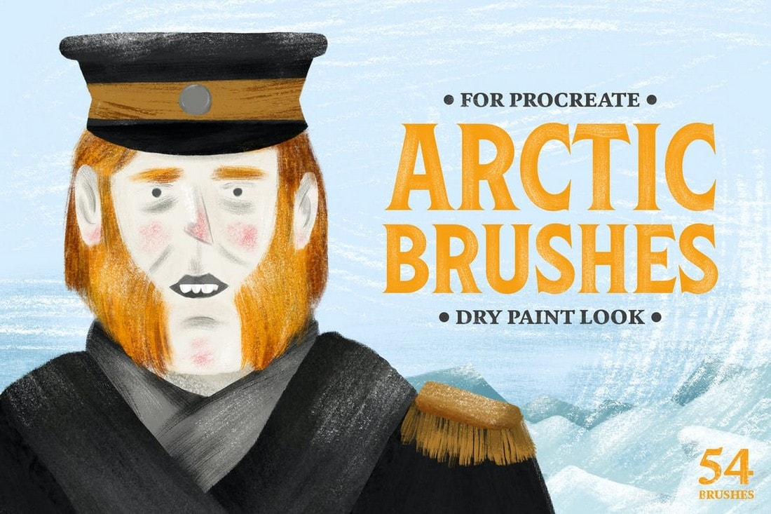 Arctic-Dry-Brushes-for-Procreate 30+ Best Procreate Brushes 2020 (Free & Pro) design tips