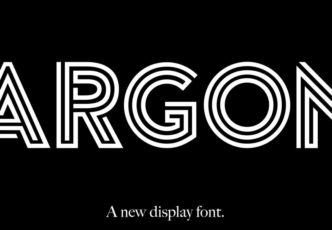 Argon - Free Creative Monogram Font