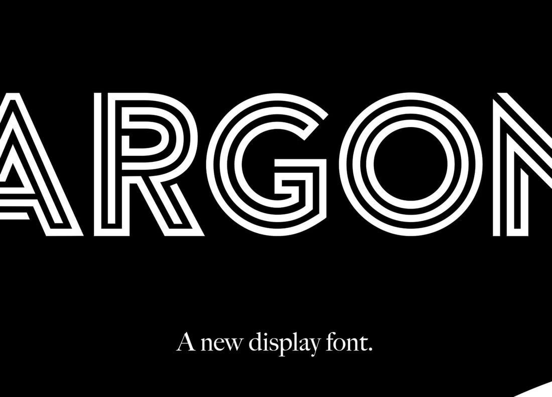 Argon - Unique Free Poster Font