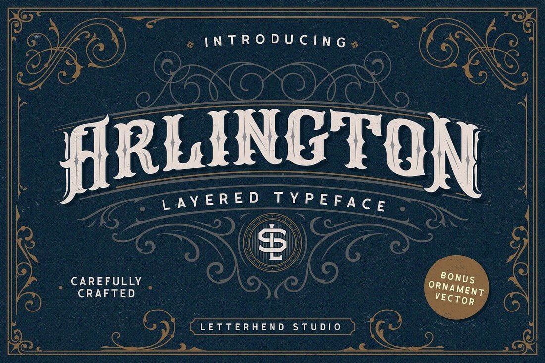Arlington - Free Layered Tattoo Font