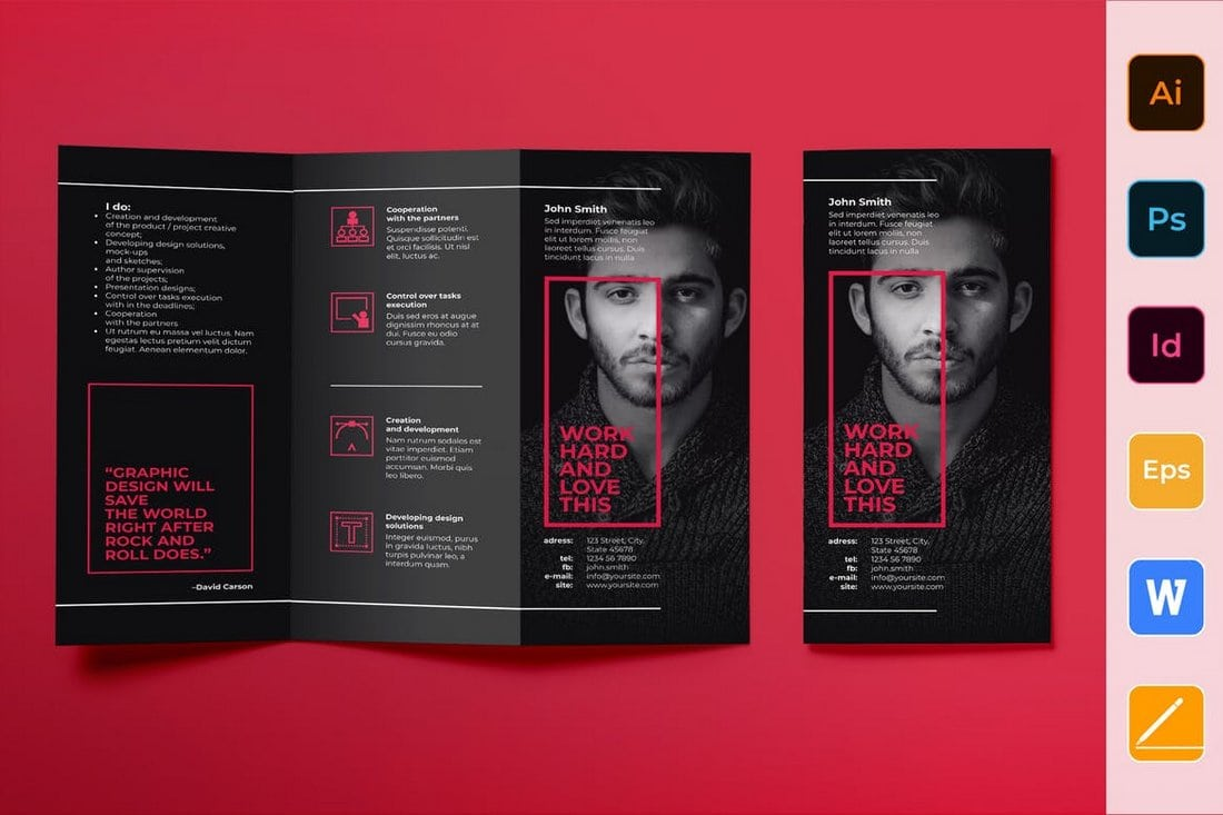 Art-Director-Brochure-Trifold 40+ Best Microsoft Word Brochure Templates 2020 design tips  Inspiration|brochure|templates