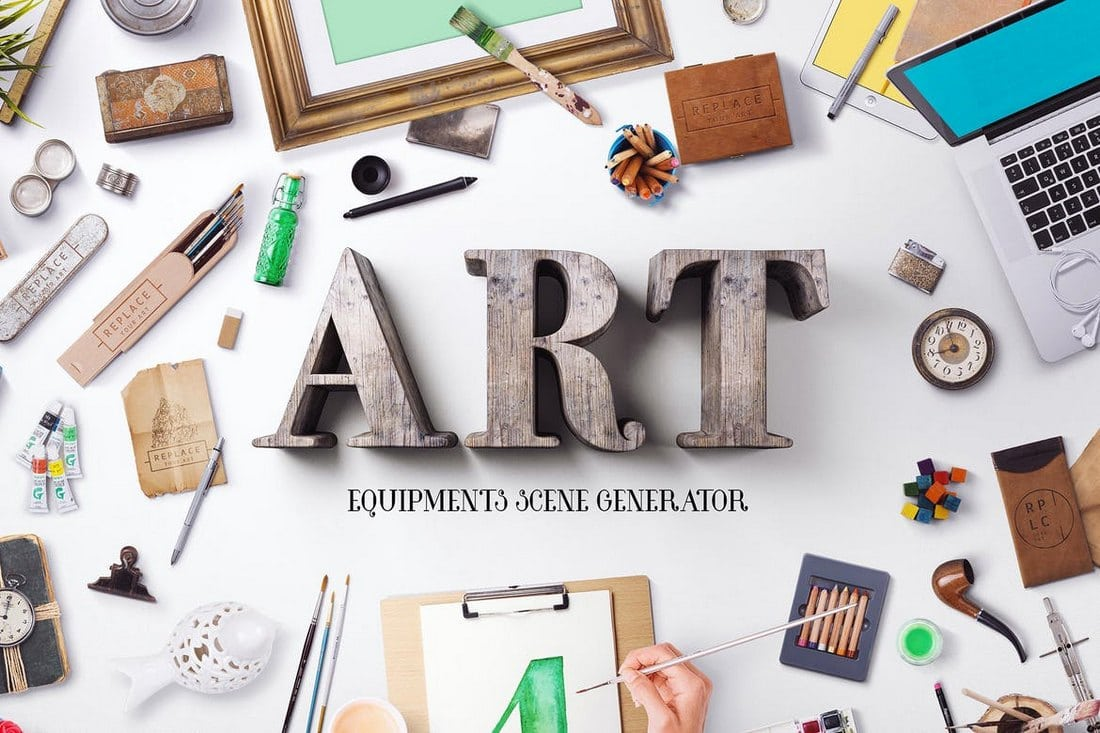 Art-Equipments-Scene-Generator 30+ Feature-Packed Mockup and Scene Generators design tips