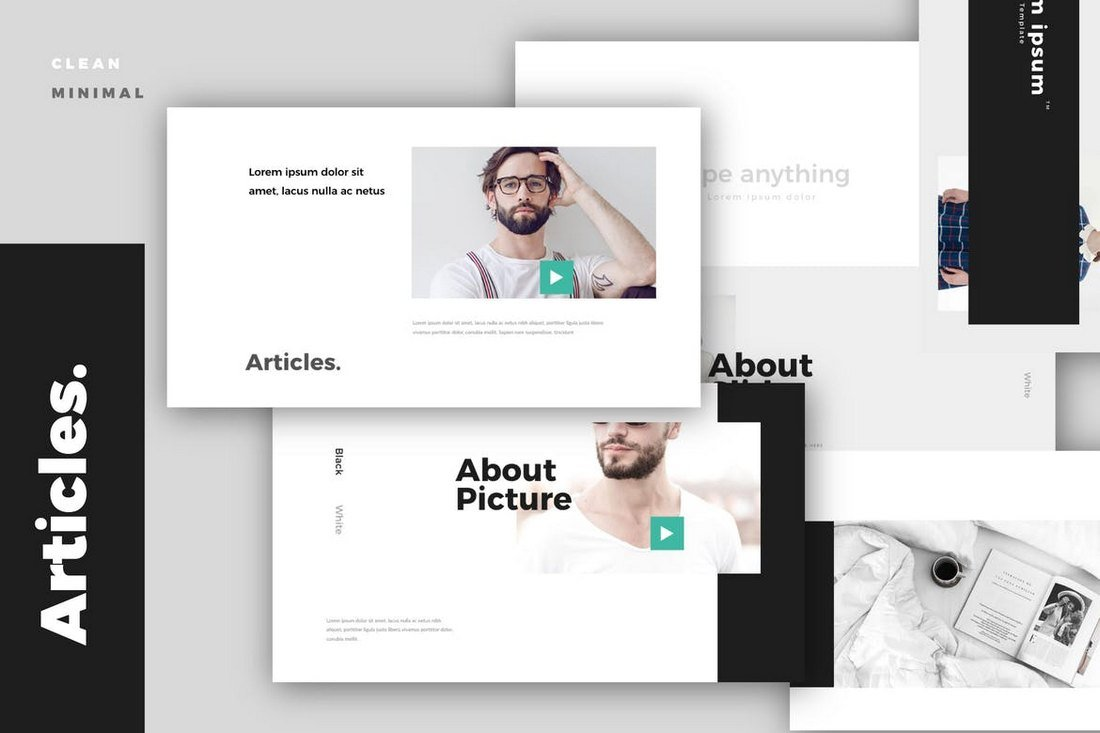 Article Modern - Minimal Keynote Template