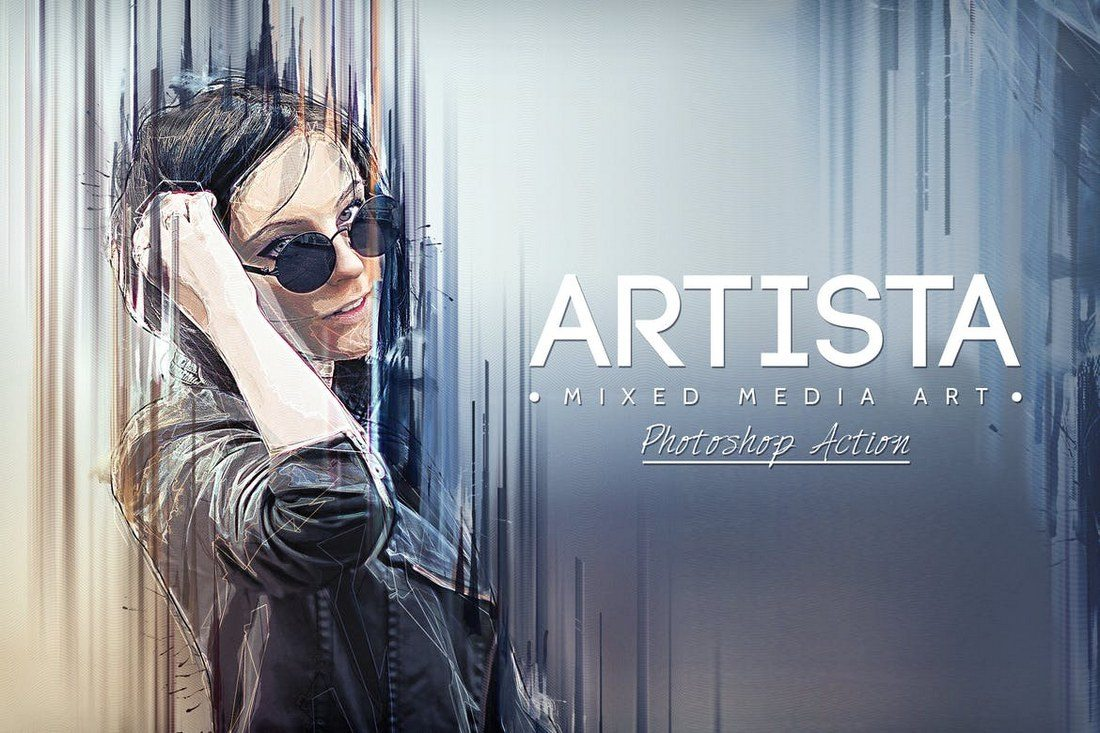 Artista-Mixed-Media-Art-Photoshop-Action 20+ Best Watercolor Photoshop Actions design tips