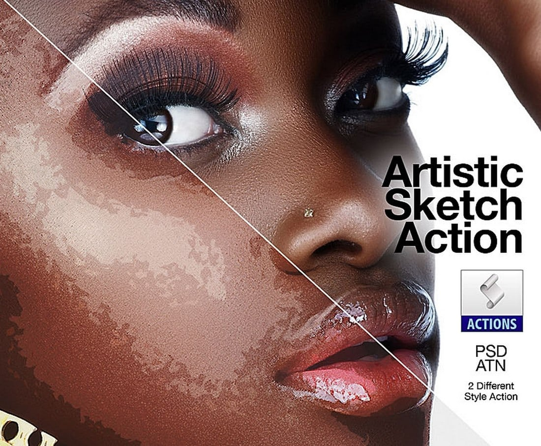 Artistic-Sketch-Free-Photoshop-Action 40+ Best Free Photoshop Actions 2020 design tips