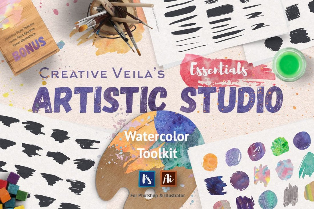 Artistic Studio - Watercolor Toolkit