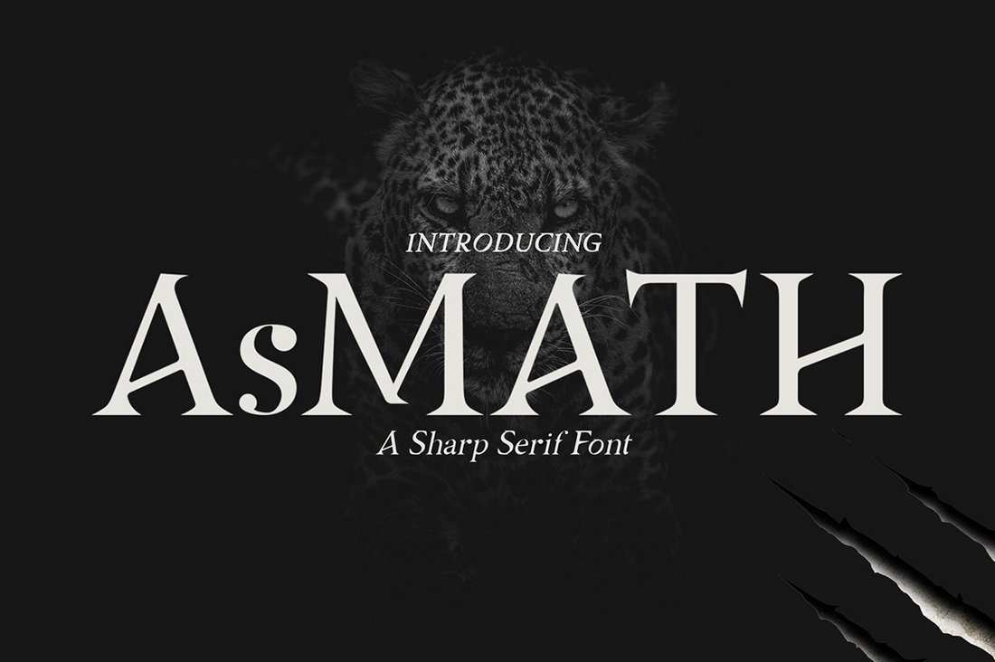 AsMATH - Free Modern Gothic Font